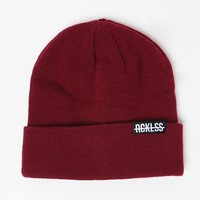 Young & Reckless Come Thru Solid Beanie - Womens Hat - Red - One