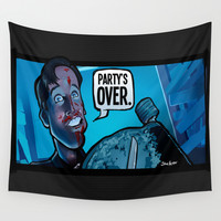 Party's Over Wall Tapestry by BinaryGod.com