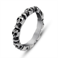Retro skull couple casual fine jewelry ring single personality trendsetter SA737