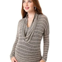 Motherhood Maternity: Long Sleeve Cowl Neck Lightweight Maternity Top