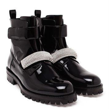 Ankle Boots with Crystal Strap - CHRISTOPHER KANE
