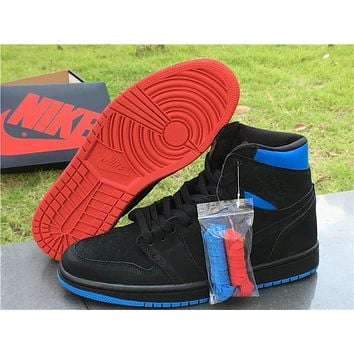 "Air Jordan 1 Retro High OG ""Quai 54"" black Basketball Shoes 40-47"