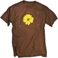 Flower Power Photographic Hippie Graphic Tee Shirt