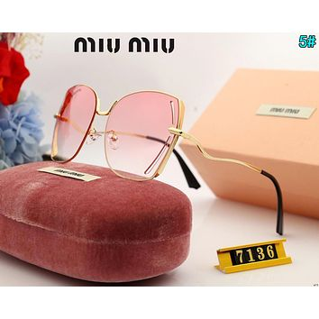 Miu Miu Newest Stylish Ladies Summer Sun Shades Eyeglasses Glasses Sunglasses 5#