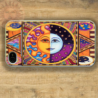 The Sun and The Moon -iPhone 5 case, iphone 4s, iphone 4, Samsung GS3 case, Ipod touch case-Silicone Rubber / Hard Plastic Case, Phone cover