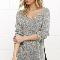 Icy London Icy France Black and Ivory Sweater