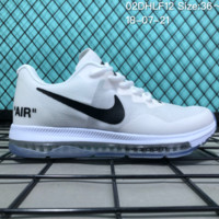 HCXX N065 Nike Air Zoom Out All Low 3 Flyknit Breathable Causal Running Shoes Whtie Black