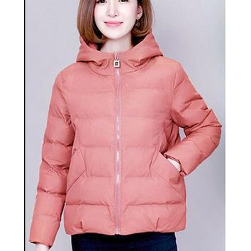 The new autumn and winter short fashion loose thick all-match cotton jacket