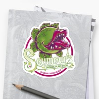 'Seymour's Organic Plant Food' Sticker by Nemons
