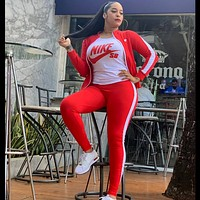 NIKE fashion sports and leisure women's sports three-piece suit