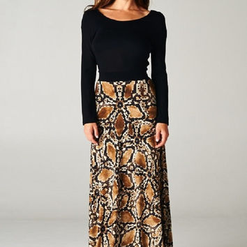 Midnight Desert Maxi Dress