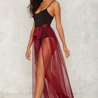 Nasty Gal Tulle Intentions Wrap Skirt - Black
