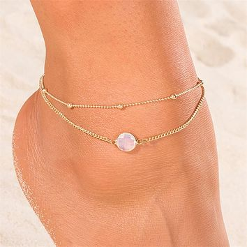 Ankle Chain Pendant Anklet Beaded Beach Foot Jewelry Fashion Style Anklets For Women