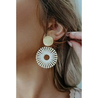 All For This Earrings: Ivory/Gold