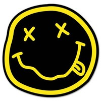 NIRVANA smiley rock band Vynil Car Sticker Decal - 2.5""