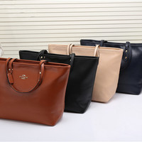 shosouvenir:COACH Women Shopping Leather Tote Handbag Shoulder Bag