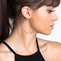Hoop There It Is Earrings - 60mm