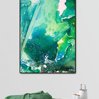Environmental Consideration, Deep Sea Water Bubbles by Alicia Jones (Framed Giclee) by Curioos at Gilt