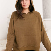 Out From Under Shrunken Hoodie Sweatshirt - Urban Outfitters