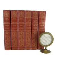Antique Book Set by Voltaire for Rustic French Farmhouse Decor, S/6