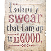 Harry Potter Solemnly Swear Tin Sign