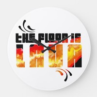 The Floor is Lava Large Clock | Zazzle.co.uk