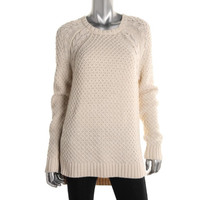 360 Sweater Womens Cable Knit Long Sleeves Tunic Sweater