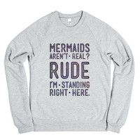 Mermaids Are Real (crew neck)-Unisex Heather Grey Sweatshirt
