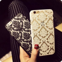 Fashion Palace Flowers mobile phone case for iphone 4 4s 5c 5 5s SE 6 6s 6plus 6s plus + Nice gift box!