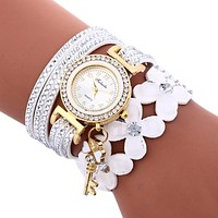 Women watches Casual Analog Alloy Quartz Watch PU Leather Bracelet Watches Gift