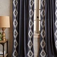 Velvet Embroidered Curtain by Anthropologie