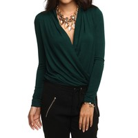 Sale-green Wrap Around Blouse