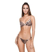 Cheetah Brownie Claudia Bralette Top & Cheeky Bottom Set