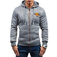 Mens Fleece Hooded Coat Jacket Sportswear