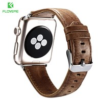 FLOVEME Wrist Band For Apple iWatch 1 2 Series Luxury Retro Leather Detachable Straps Belts Buckle For iWatch Series 38mm 42mm