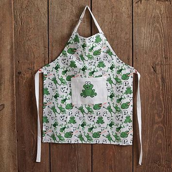 Leaping Frogs Childrens Apron