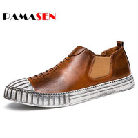 2017 Spring Summer Men Casual Shoes Men's Luxury Trendy Flat Footwear Do Old Slip-On Style High Quality Shoes Zapatillas hombre