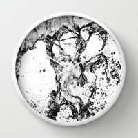 Inverted Water Play Wall Clock by Karl Wilson Photography