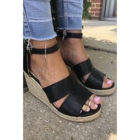 Summer Wedge- Black