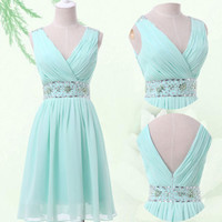 SUMMER New BEADED Straps Short Party Cocktail Bridesmaid Homecoming Prom DRESSES