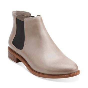 Taylor Shine Mushroom Leather - Clarks Womens Shoes - Womens Heels and Flats - Clarks - Clarks