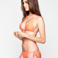 Full Tilt Tie Side Bikini Bottoms Neon Orange  In Sizes