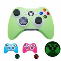 GREEN GLOW in DARK Xbox 360 Game Controller Silicone Case Skin Protector Cover (Many Colors Available):Amazon:Video Games