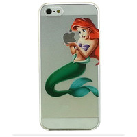 Little Mermaid Ariel Holding Logo Clear Transparent Case For Apple Iphone 5 /5s /SE