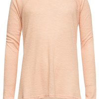 Full Tilt Essential Waffle Knit Girls Raglan Tee Peach  In Sizes
