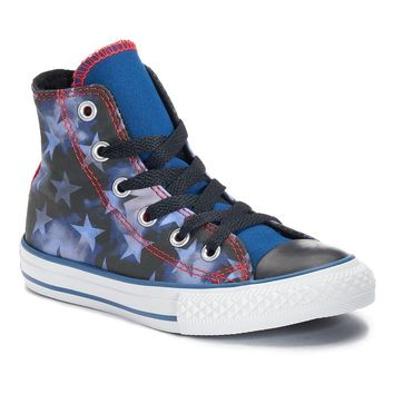 Converse Chuck Taylor All Star Patriotic High-Top Sneakers for Boys (Blue)