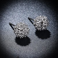 1 Pair Flower Stud Earrings For Women Men Girls Friend Gift Punk Fashion Stud Earring Brincos boucle d'oreille femme 2018 New