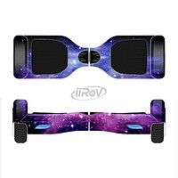 The Purple and Blue Scattered Stars Full-Body Skin Set for the Smart Drifting SuperCharged iiRov HoverBoard