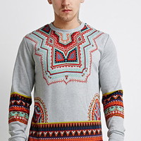 Tribal Print Sweatshirt