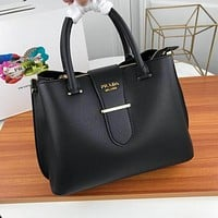 prada women leather shoulder bags satchel tote bag handbag shopping leather tote crossbody 343